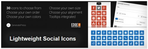 Lightweight Social Icons