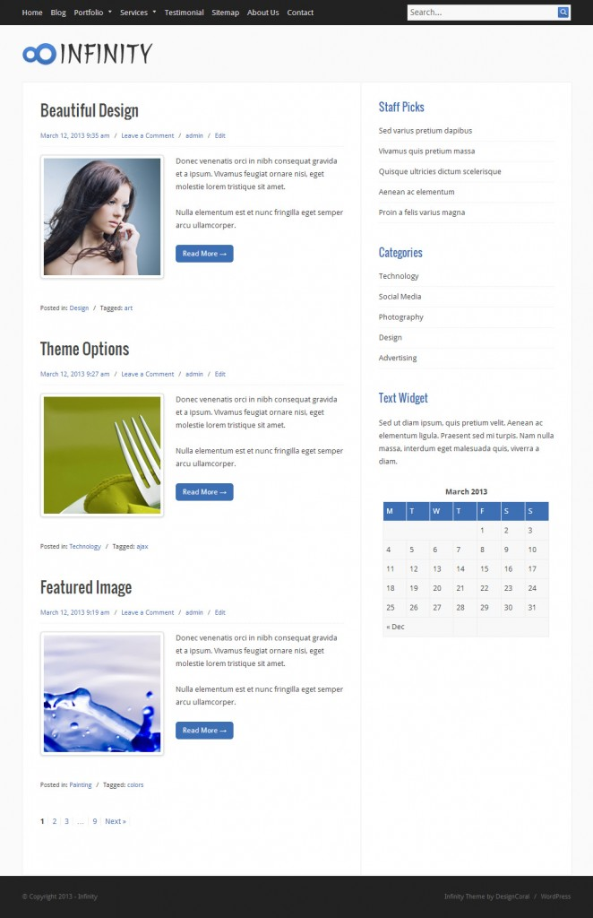 Infinity 2.0 WordPress Theme