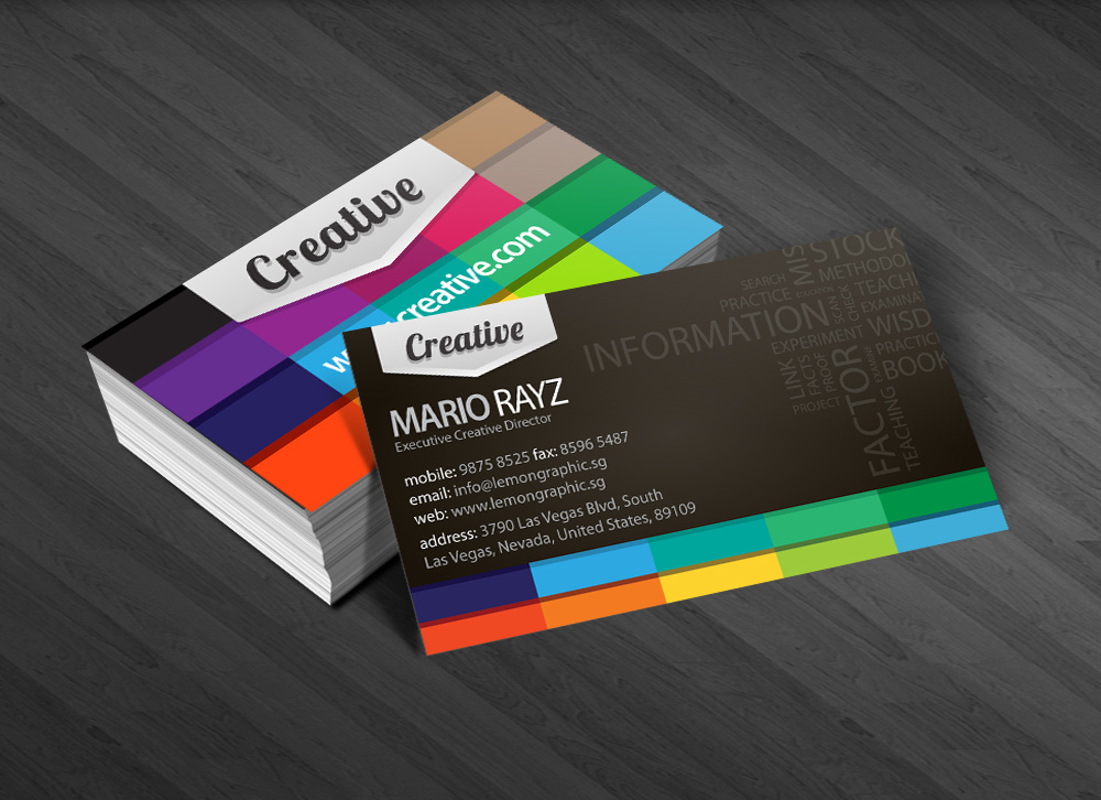 20 innovative and creative business card designs designcoral creative colorful business card ideas colourmoves