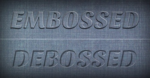 Create a Realistic Emboss/Deboss Effect in Photoshop