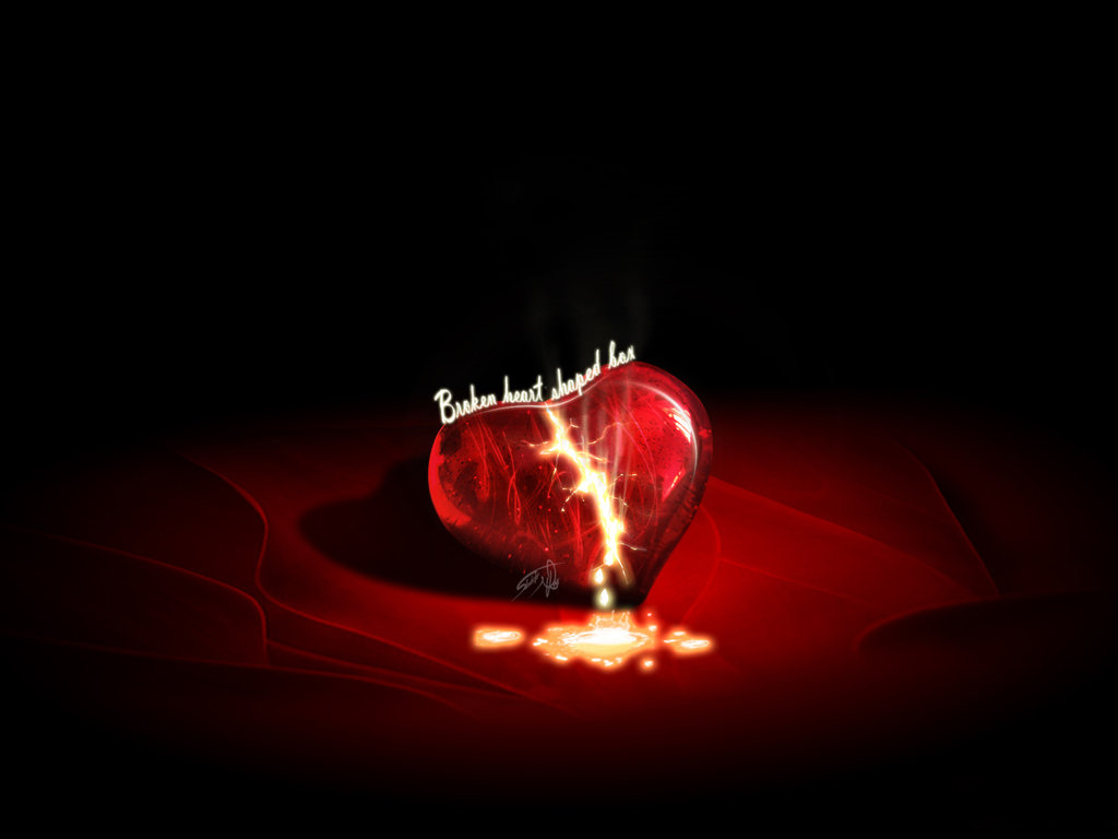 40 breathtaking heart shaped wallpapers designcoral broken heart shaped box voltagebd Images