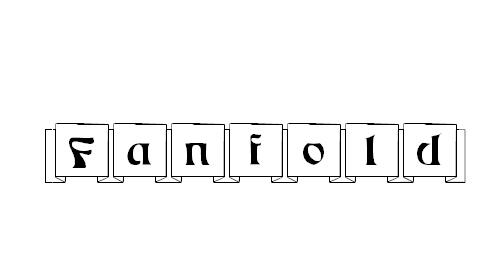 Fanfold Font