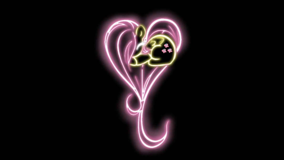 Fluttershy Heart Glow Wallpaper