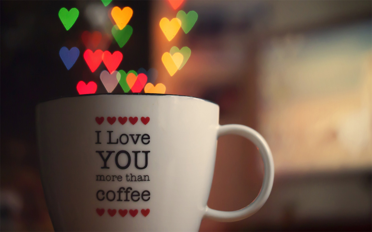 I Love You in Coffee Cup HD Wallpapers