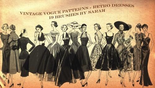 19 Free Vintage Vogue Brushes
