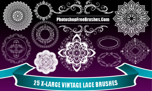 25 Vintage Lace PS Brushes