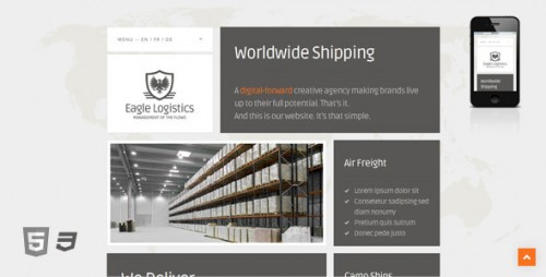 Eagle Logistics - Retina-Ready WP Theme