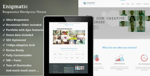 Enigmatic - Responsive WP Theme