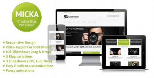 Micka - a Responsive Blog WordPress Theme