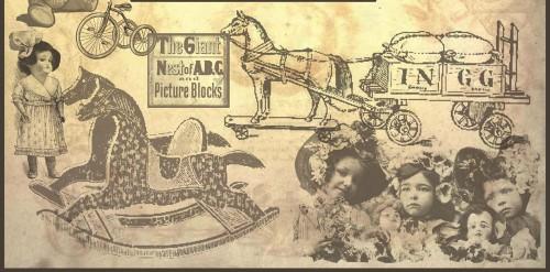 Vintage Toys Photoshop Brushes