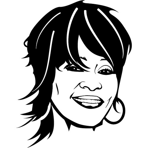Whitney Houston Illustration