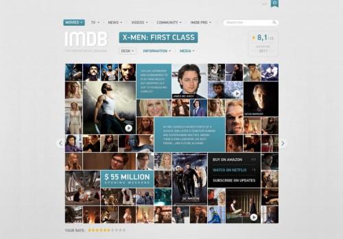 IMDB Filmpage Concept