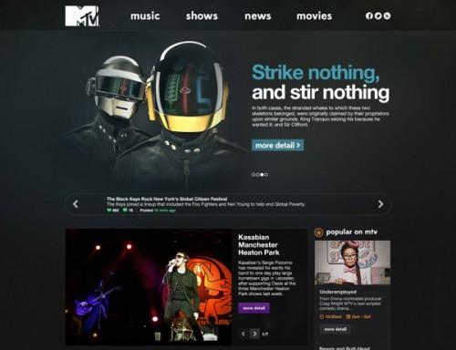 MTV.com Redesign