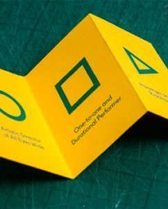 22 Awe-Inspiring Folded Business Card Designs