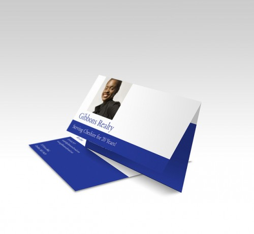 Folded Business Card - Image Upload