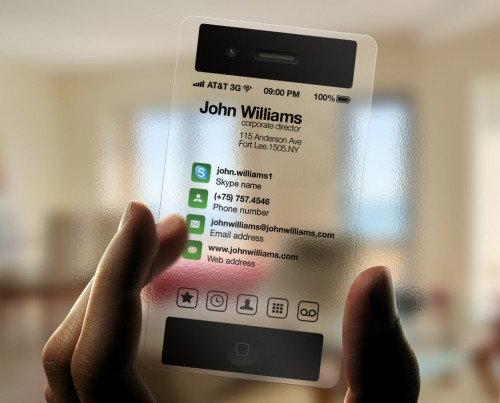 iPhone Business Card Transparent
