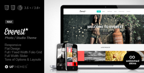 Everest - Responsive Portfolio WordPress Theme