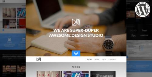 Nonus Parallax WordPress Portfolio Theme