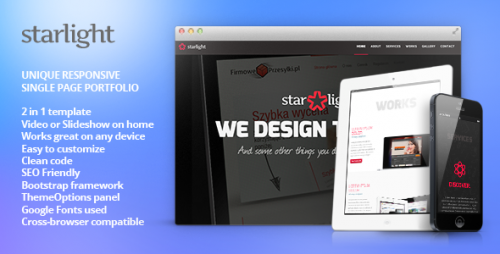 Starlight - Responsive WordPress Portfolio