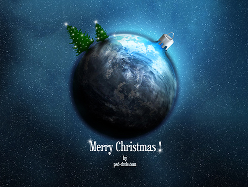 Xmas Space Theme Wallpaper