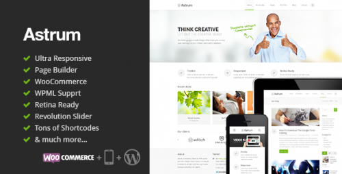 Astrum - Responsive WordPress Theme