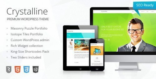 Crystalline - Business WordPress Theme