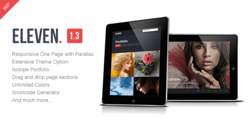 Eleven - WordPress Responsive One Page Parallax