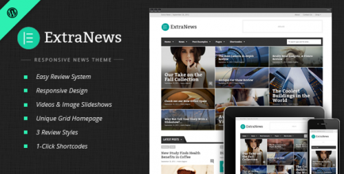 ExtraNews - Responsive News and Magazine Theme