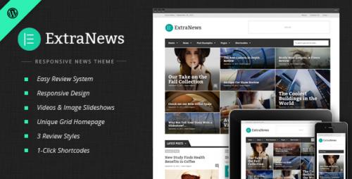 ExtraNews - Responsive News and Magazine Theme