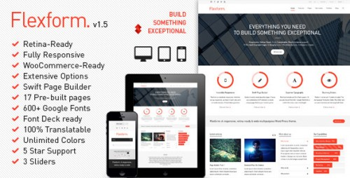 Flexform - Retina Responsive Multi-Purpose Theme