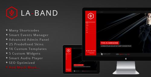 LA-BAND - Music Band Premium WordPress Theme