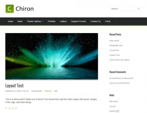 Chiron WordPress Theme