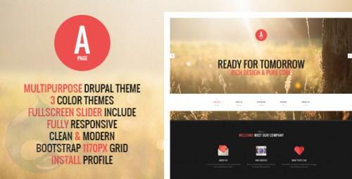 APage - Flat Onepage & Multipage Drupal Theme