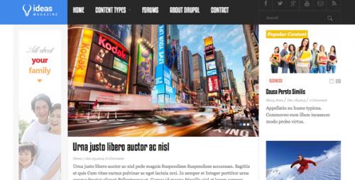 Idea Magazine Responsive Drupal Theme