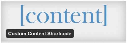 Custom Content Shortcode