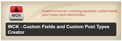 Custom Fields and Custom Post Types Creator