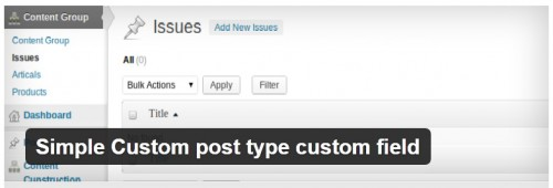 Simple Custom Post Type Custom Field