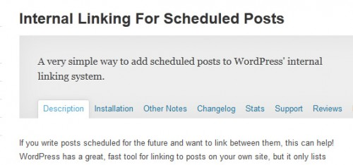 Internal Linking For Scheduled Posts