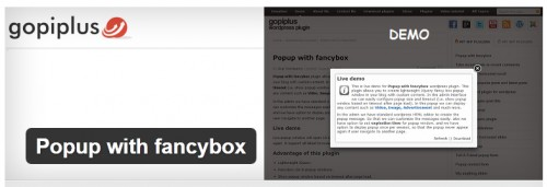 Popup with Fancybox