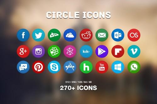 270+ Free Circle Flat Icons Pack