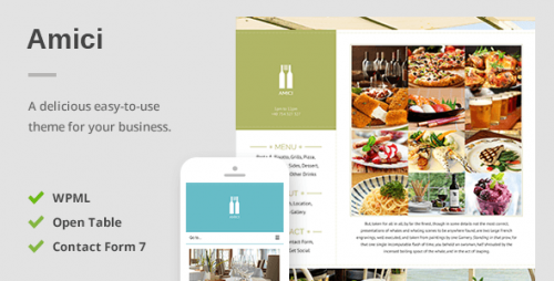 Amici - Delicious Responsive Restaurant & Cafe Theme