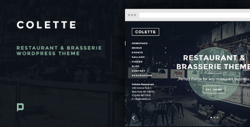 Colette: Restaurant & Brasserie WordPress Theme