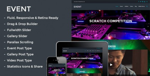 Event - Responsive Parallax Events Theme