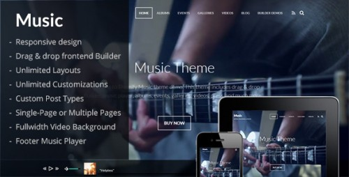 Music - Artists, Events, Portfolios, Photographers Theme