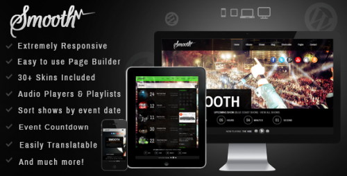 Smooth - Responsive Full Screen Music Theme