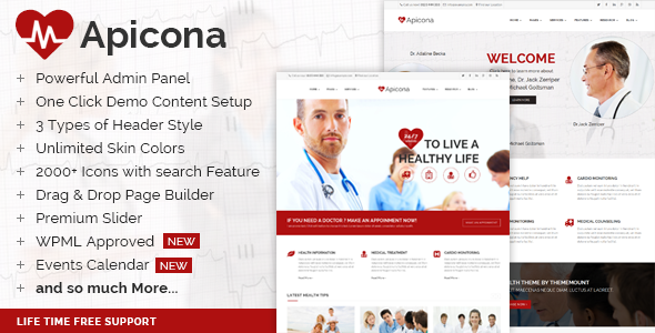 Creative List of WordPress Premium Clinic Themes