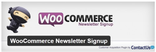 WooCommerce Newsletter Signup