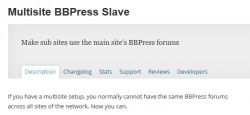 Multisite BBPress Slave