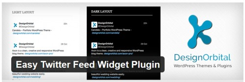 Easy Twitter Feed Widget