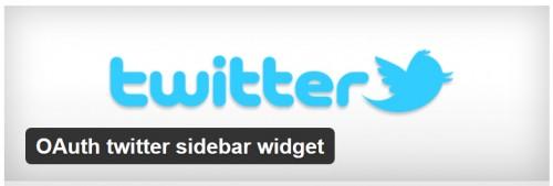 OAuth Twitter Sidebar Widget